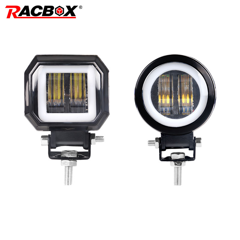 Fog Lamp Driving Daytime Off road Led Light Headlight New 7D 3'' 20W For Motorcycle Halo Jeeps ATV 12V 24V SUV Worklight Beams image