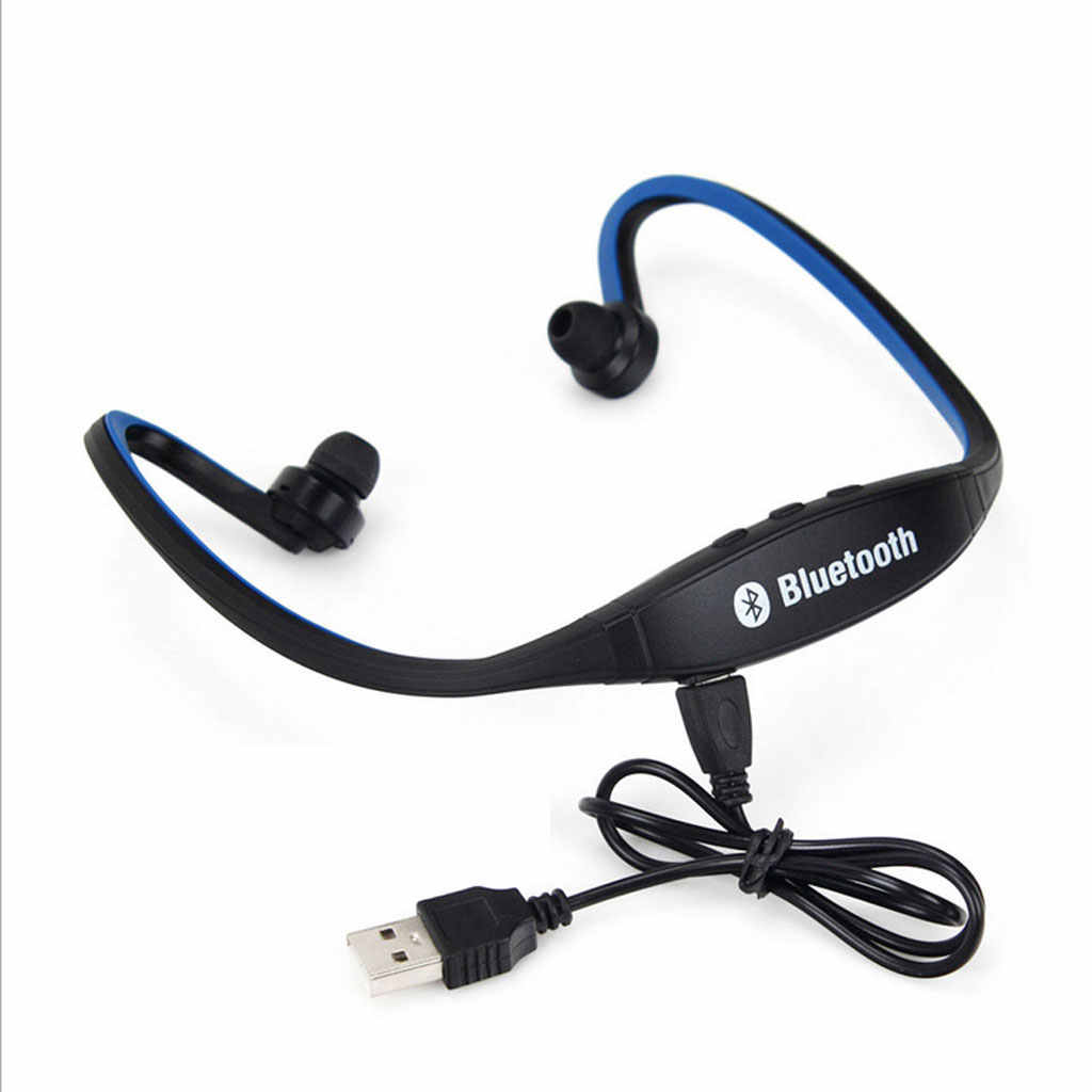 Bluetooth bezprzewodowy zestaw słuchawkowy dla aktywnych słuchawki stereofoniczne słuchawki tryb głośnomówiący-niebieski