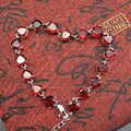 2017 summer fashion bracelet bright red natural garnet bracelet pure sterling silver jewelry fashion silvre bracelet for woman