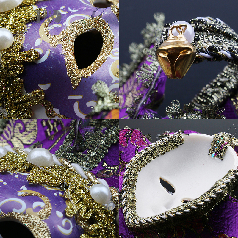 H&D Fashion Full Face Mini Venetian Mask Masquerade Mardi Gras ...