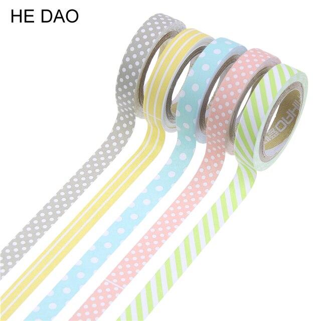 5 шт./упак. Карамельный цвет радуги васи лента клейкая лента DIY Скрапбукинг наклейки этикетки клейкой ленты