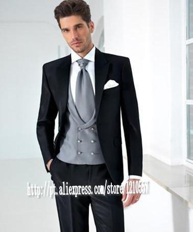 Mens Wedding Attire.Us 86 0 New Design Peaked Lapel Black Groom Tuxedos Men S Wedding Dresses Prom Clothing Jacket Pants Tie Vest In Tuxedos From Weddings Events On