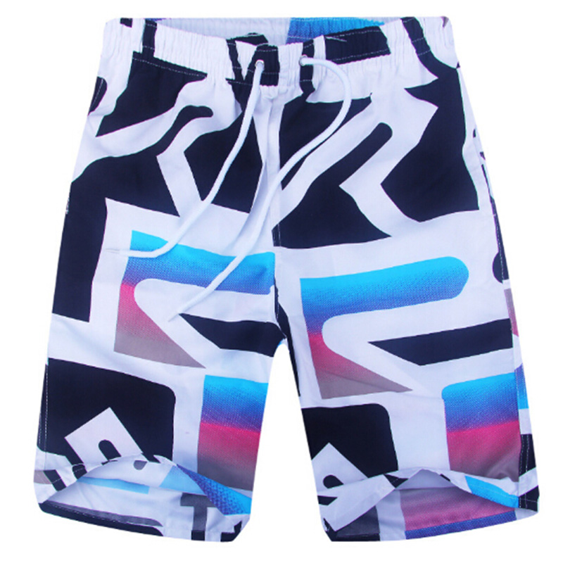 New 2018 Quick Dry Summer Mens Print Beach Board Shorts Mens Shorts