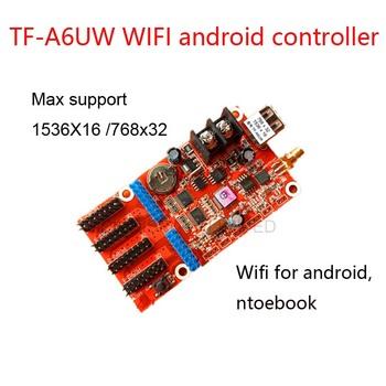цена на TF-A6UW wireless wifi led control card, Support  768*64 ,2 hub08, 4hub12 port,one color, two color andriod led control card