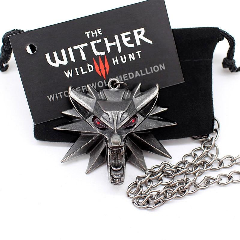 Высокое качество the Witcher 2016 колье медальон мастер волк дикая охота 3 Рисунок Игры ожерелье + witcher 3 волк ожерелье