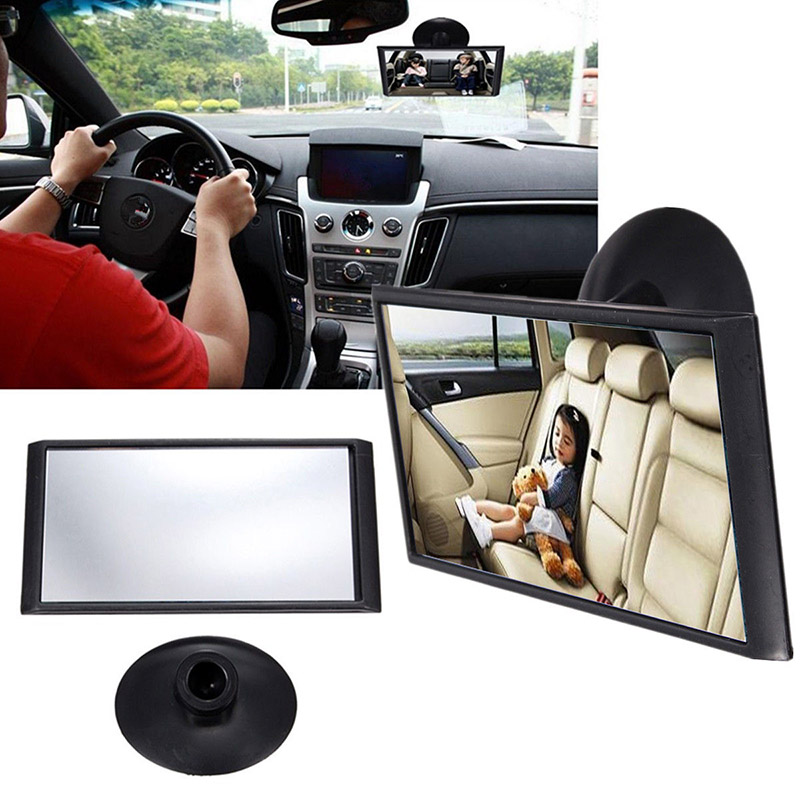 12cm Adjustable Car Safety Easy View Back Seat Mirror Baby Facing Rear Ward Child Infant Care Square Baby Kids Suction Monitor