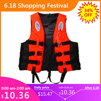 Полиэфирный взрослый спасательный жилет, куртка для плавания, катания на лыжах, серфинга, спасательный жилет с свистком, спортивная мужская...