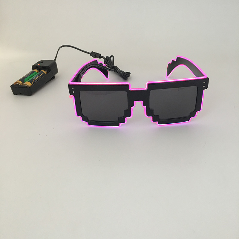 ALI shop ...  ... 32256443641 ... 3 ... 2018 DIY color glasses Pixel Light Up El Wire Led Flashing Glasses  EDM EDC Rave Party Bar Eyeswear Accessory Sunglasses ...