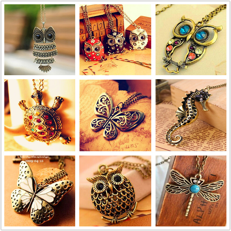 H1 The New Fashion Owl Pendant Necklaces For Women