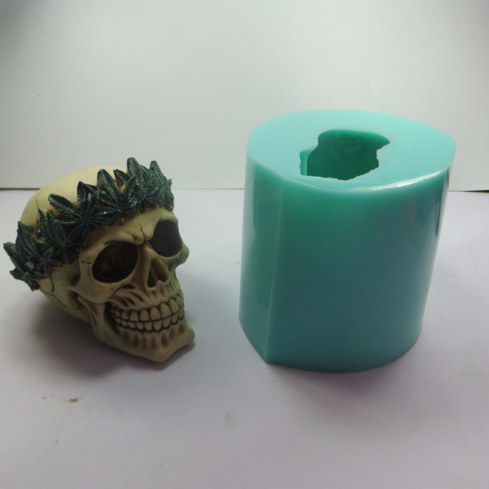 Dia das bruxas paz crânio silicone molde