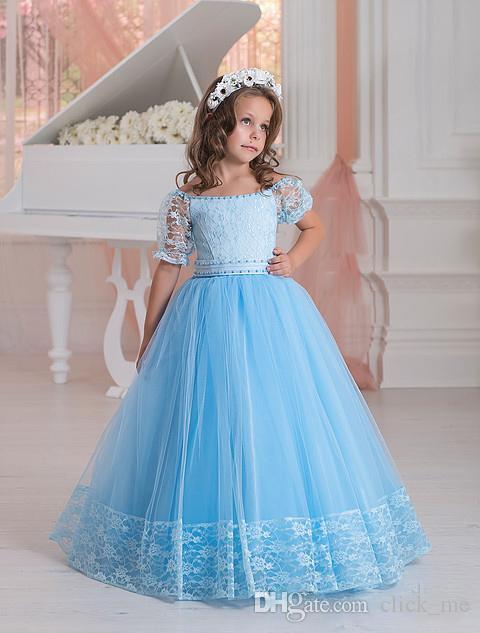 Light Blue Flower Girl Dresses