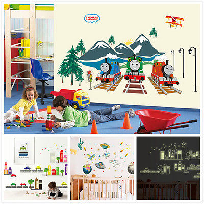 Thomas U0026 Friends Train Wall Sticker Removable Cartoon Decals Kids Room  Decor Nursery Mural