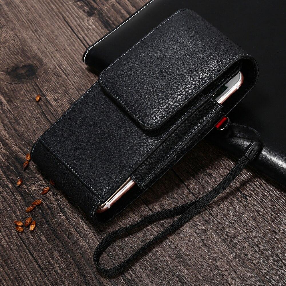 Двойной поясная сумка для iPhone X 6 7 8 плюс кожа Хип пояса бумажник для samsung S8 S9 плюс Xiaomi pocophone F1 huawei P20 про мешок
