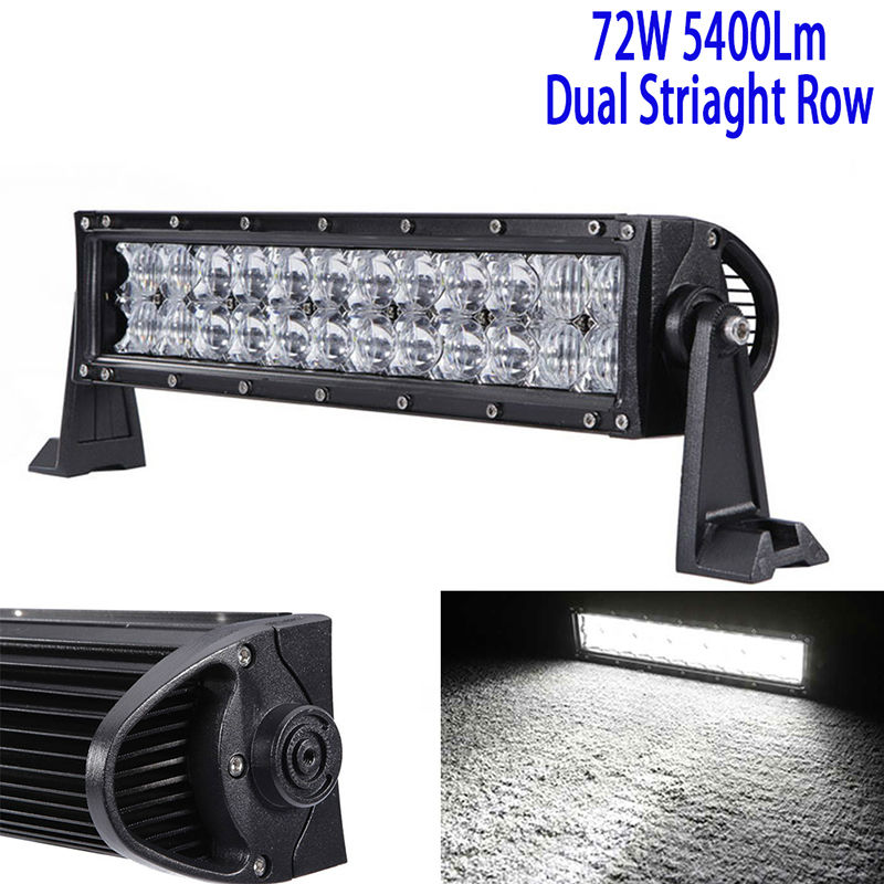 13.5Inch 72W 5D Led Driving Light Bar Led Work Light Bar Straight Roof Offroad Truck Suv Atv Utv Boat 4wd 6000k White Combo 12v