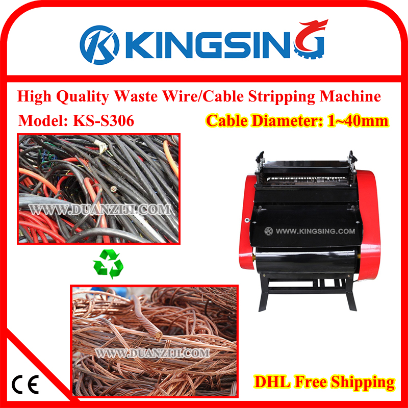 scrap power cord  wire  line  cable stripping and copper recycling machine ks s306 in wiring scrap car wiring harness Annealed Steel Wire Scrap