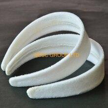Белая бархатная повязка на голову 4 см, используется для вуалетки Sinamay или украшения для волос