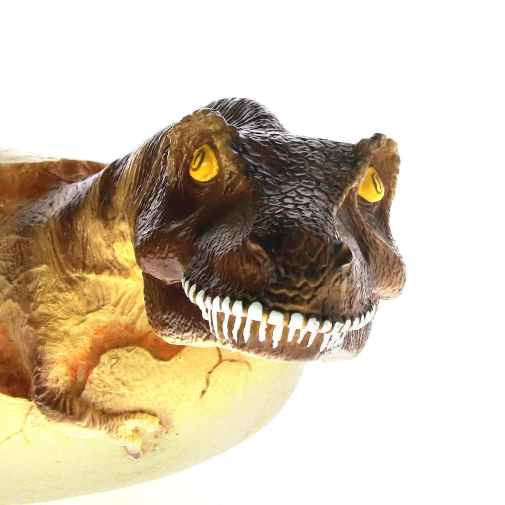 1 stuk Baby Dinosaurus Beeldje Hatchling Collectible Sculptuur Vervaardigd Jurassic Tijdperk Predator Velociraptor Breaking Out Van Ei