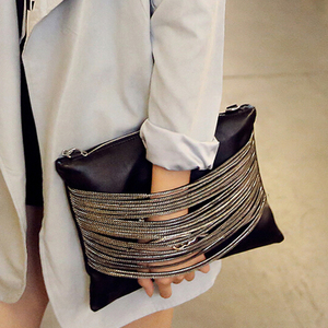 Image 1 - Quality Guarantee ! 2018 women black leather Purses And Handbags evening clutch bags Day Clutches