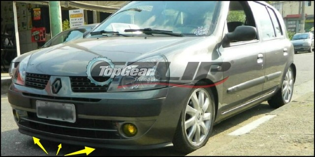 renault espace top gear. Bumper Lip Deflector Lips For Renault Espace Front Spoiler Skirt TopGear Fans To View Car Tuning / Body Kit Strip Top Gear C