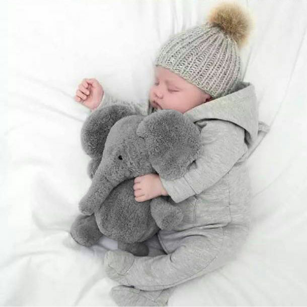 Cute Soft Baby Elephant Doll Stuffed Animals Plush Pillow Kids Toy Children Christmas Bed Decoration Babies Plush Toys Cushion 1pc 65cm cartion cute u shape pillow kawaii cat panda soft cushion home decoration kids birthday christmas gift