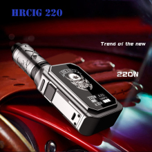 Original HRCIG 220W VTC Box Mod Ni/Ti/SS Mode electronic cigarette box mod Kit with 4ml tank 0.2ohm low resistance