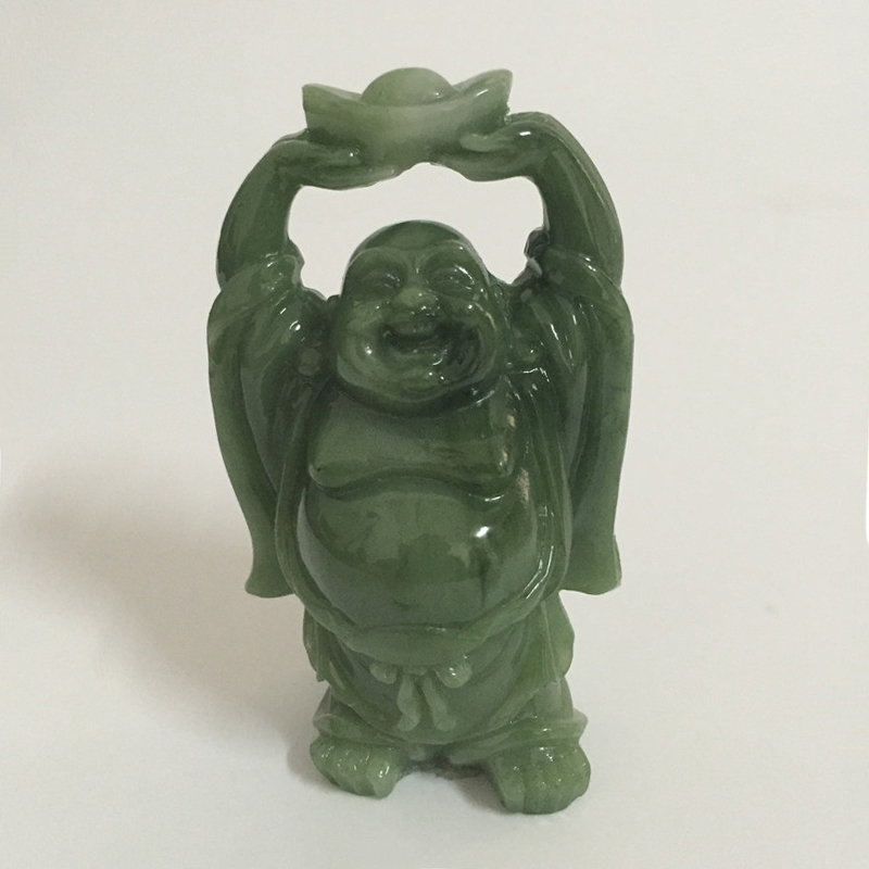 Feng Shui Maitreya Laughing Buddha Statue Hand Caved Sculptures Money Happy Buddha Figurines For Garden Home Decoration Statues