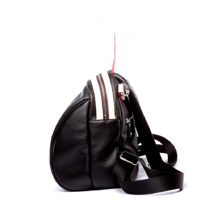 Сумки San maries с Минни Маус для девочек на ремне сумки женский рюкзак коровья кожа Мода женские рюкзаки маленький с переплетенными ремешками; популярная Красивая Цвет черный Для женщин рюкзак - 3