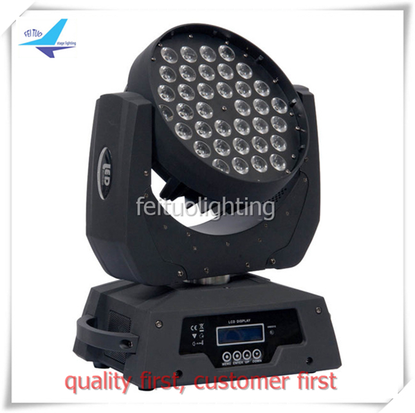 Best Sell 36x10w 4 Colors RGBW 4IN1 LED Moving Head Stage Light Lyre Wash Mobile Head Wedding Party Disco Professional Lighting