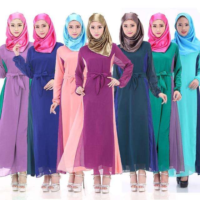 575314b8b9466 Muslim Abaya Dress Maxi Dress Islamic Clothes Women Arab Robes Kaftan  Fashion Chiffon Abaya Long Sleeve Malaysia Dress Plus Size