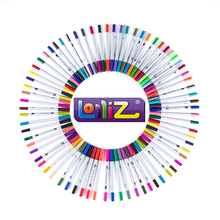 LolliZ 60Color Watercolor Brush Art Marker Set Double Tip Fineline Color Pen Water Based for Book Drawing