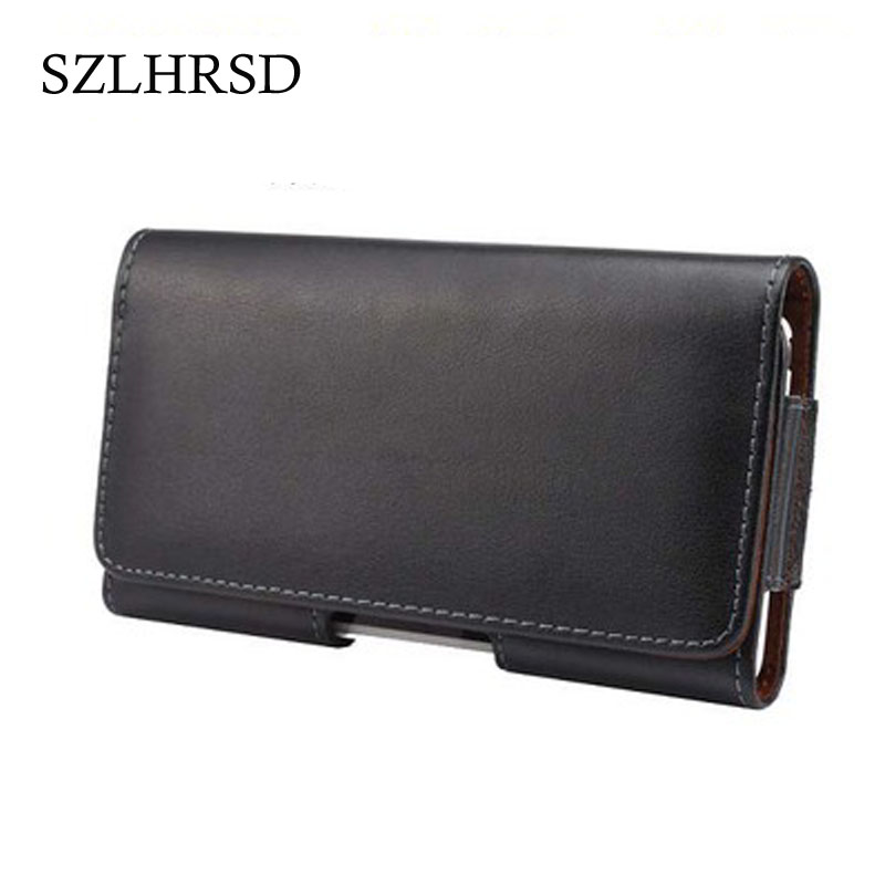 SZLHRSD Universal Genuine Leather Belt Clip Phone Pouch Bag for Meiigoo M1 /Maze Alpha X/<font><b>HomTom</b></font> S8/Nomu <font><b>S10</b></font> Pro/Oukitel K8000 image