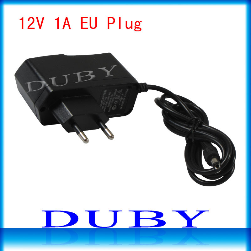 100Pcs lot 12V1A New AC 100V 240V Converter power Adapter DC 12V 1A 1000mA Power Supply