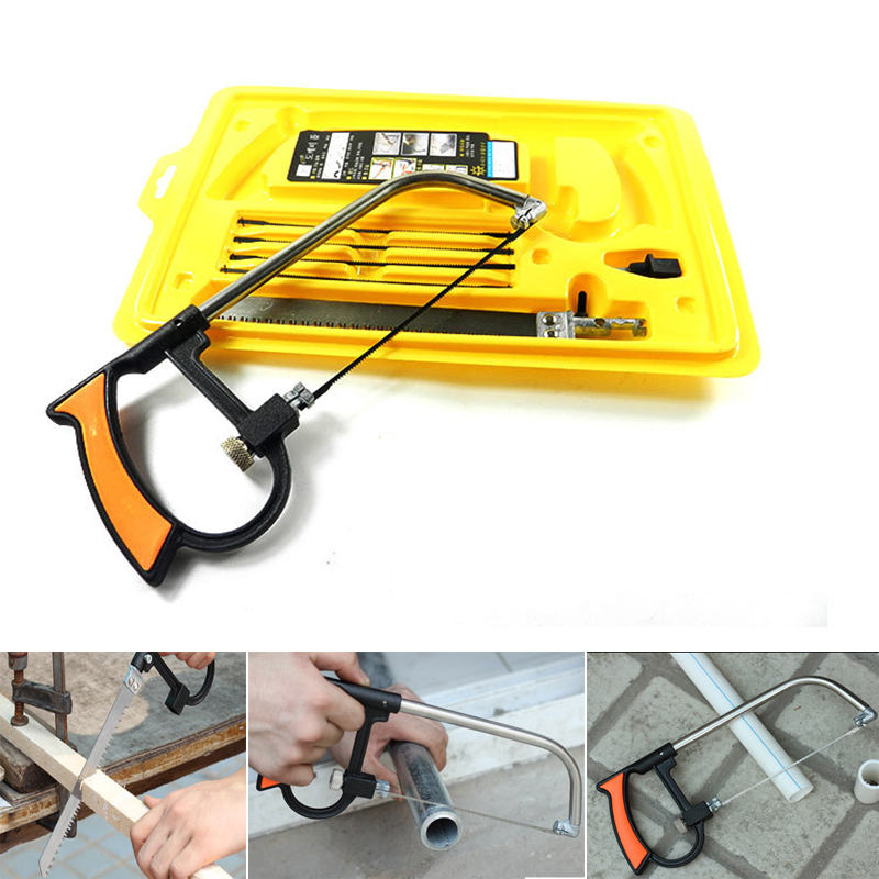8 in 1 Magic Saw Multi Purpose Hand DIY Steel Saw For Metal Wood Plastic Saw Kit With 6 Blades Woodworking Metalworking ...