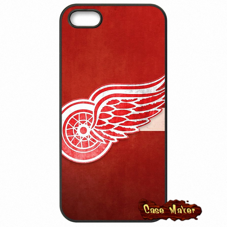 NHL Hockey Detroit Red Wings Phone Case Cover For Apple iPod Touch 4 5 6 iPhone  4 4S ...