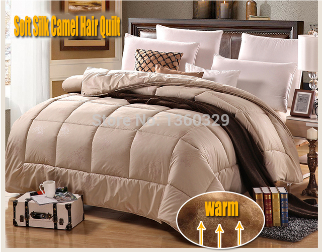 220*240cm Camel Hair Winter Blanket Queen Size Thickening Quilt Double colchas Soft Brushed Printing edredom zara Free Shipping