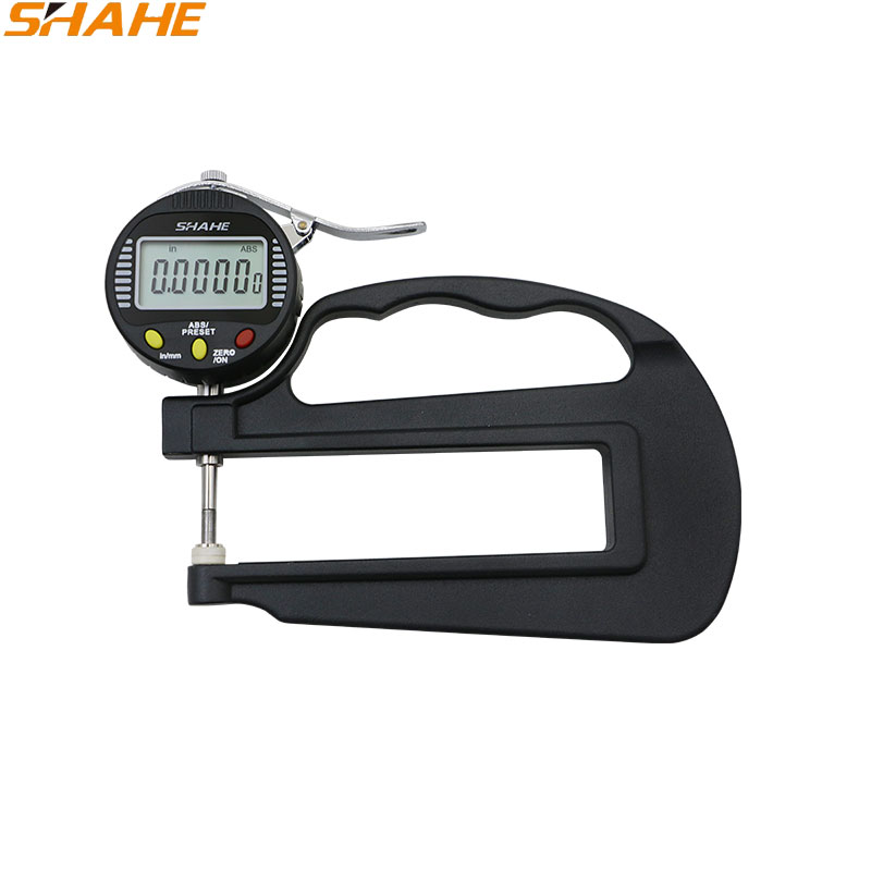 SHAHE 0.001mm 10mm digital thickness gauge Paper / leather / rubber / fabric / sheet metal / glass digital thickness Gauge