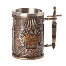 Game of Thrones Iron Throne Tankard Coffee Mugs Stainless Steel Resin Cups and Mugs Creative Drinkware Mark(China)