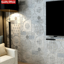3d foam wall stickers thickening living room bedroom decoration geometric pattern  anti-collision soft bag wallpaper