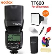Godox TT600 TT600S 2.4G Sem Fio GN60 Mestre/Escravo Speedlite Flash Da Câmera para Canon Nikon Sony Pentax Olympus Fuji lumix