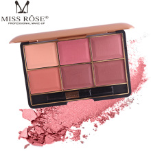 MISS ROSE six-color blush sizzling make-up makeup rouge women's blush Europe and America все цены