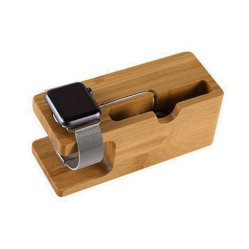 Cradle-Holder Station Docking Apple IPhone For Watch-Stand Bamboo Wood SE 5C 6S 5S Plus