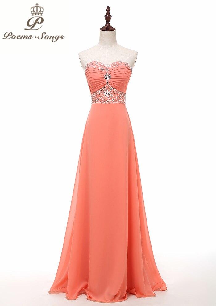 Poemssongs custome made chiffon strapless   evening     dress   party   dresses   prom   dresses   formal   dress   vestido de festa free shipping