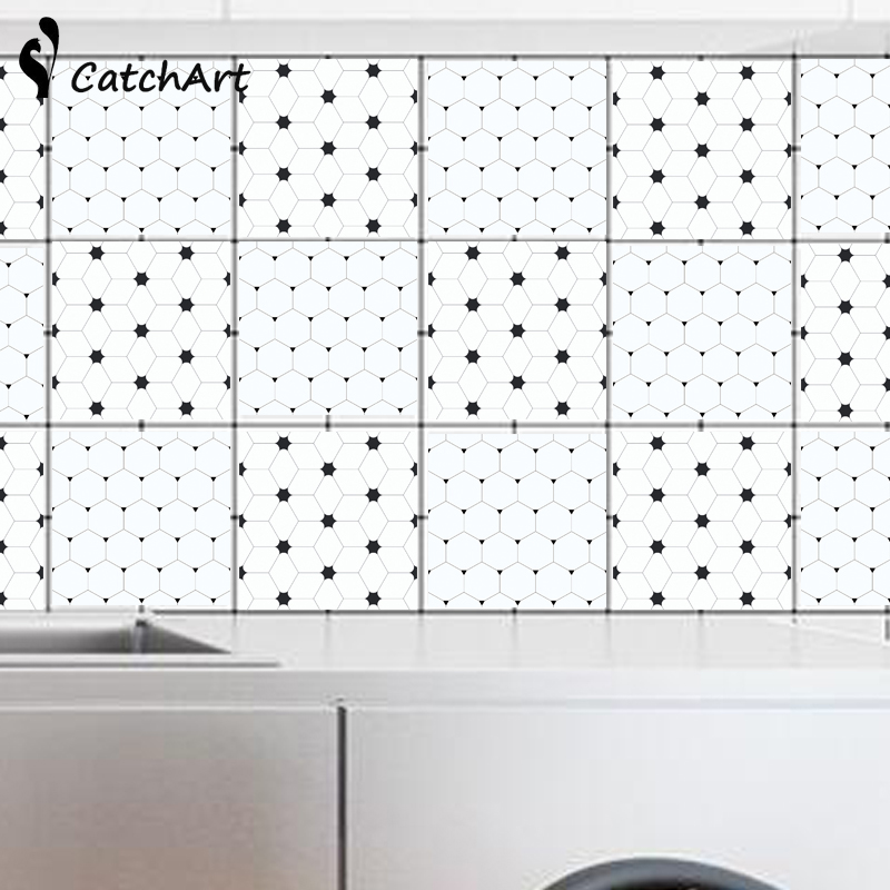 Waterproof <font><b>Wall</b></font> <font><b>sticker</b></font> <font><b>Retro</b></font> Geometric patternsTiles <font><b>Stickers</b></font> Kitchen Bathroom Removable <font><b>Wall</b></font> <font><b>Stickers</b></font> DIY Poster <font><b>Stickers</b></font> image