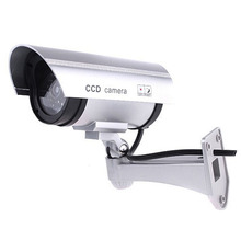 Fake CCTV Camera Dummy Security Camera ABS 1.5V Battery Outdoor Indoor Monitors Decoy Surveillance Camera 100 pieces waterproof security camera sticker warning decal signs for cctv surveillance fake camera and dummy camera
