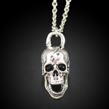 Women's Jewelry Vintage Silver Tone 1.0″X0.6″X0.5 Skull Pendant Short Necklace DY257 Free Shipping