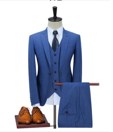 2019 Custom Slim Fit Peak Lapel Best Man Groom Suit  Men's Wedding Prom Suits  Three Piece Blazer Men Suits Costume Homme Terno