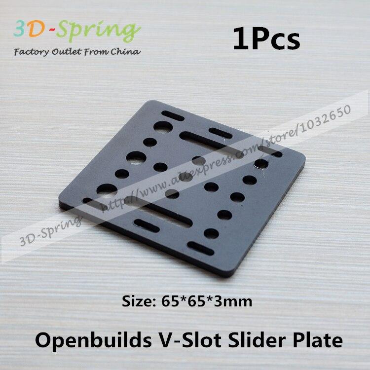 1Pcs Openbuilds Slider Gantry Plate Standard 65*65*3mm Aluminum Alloy CNC Special Slider Plate For 3D Printer 1pcs openbuilds motor mount plate for nema 17 82 39 5 3mm aluminum alloy cnc special fixing plate for 3d printer