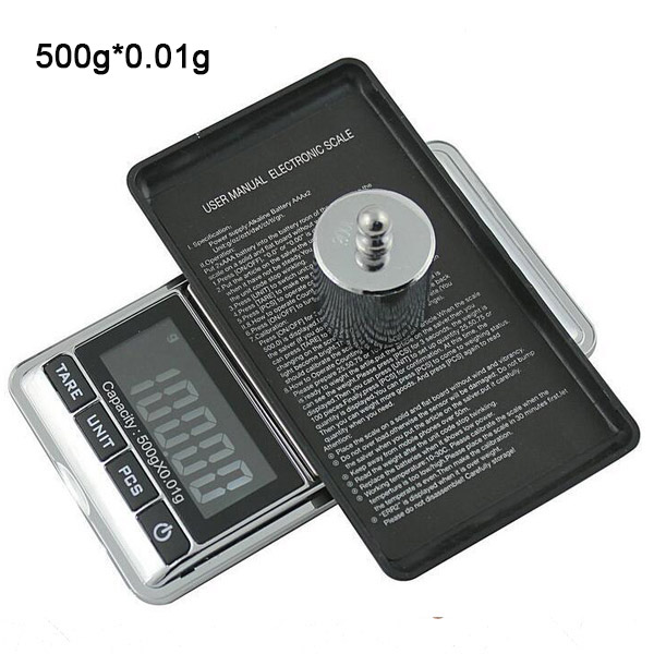 500gx0.01g Mini Digital Scale 0.01g Portable LCD Electronic Jewelry Scales Weight Weighting Diamond Pocket Scales