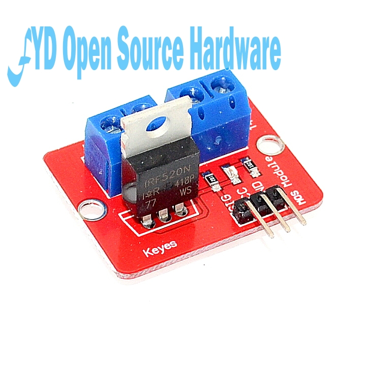 1pcs 0-24V Top Mosfet Button IRF520 MOS Driver Module MCU ARM For Arduino