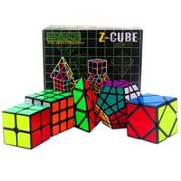 5PCS/set Professional Black 2x2x2 3x3x3 Skew Megaminx Magic Cube Toys for Kids Smooth Speed Magic Cube 2*2*2 3*3*3 Antistress